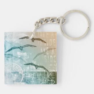 Free like a bird keychain