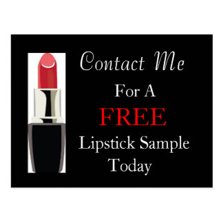 Free Lipstick Sample Postcard