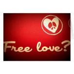 free love greeting card