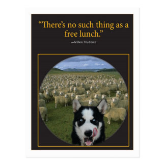 Free Lunch Postcard
