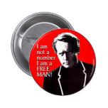 Free Man Pinback Buttons