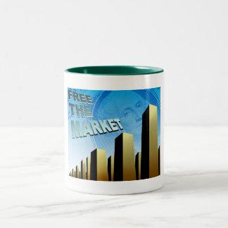 Free Market Economy Two-Tone Coffee Mug