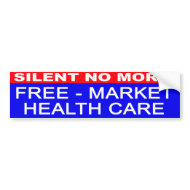 Free-Market Health Care bumper sticker bumpersticker