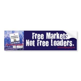 Free Markets Bumper Sticker bumpersticker