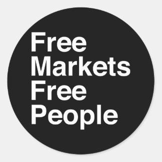 Free Markets Free People Classic Round Sticker