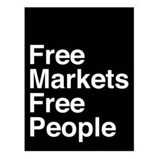 Free Markets Free People Postcard