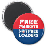 Free Markets - Not Freeloaders 2 Inch Round Magnet