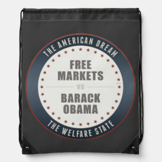 Free Markets Versus Obama Drawstring Bag