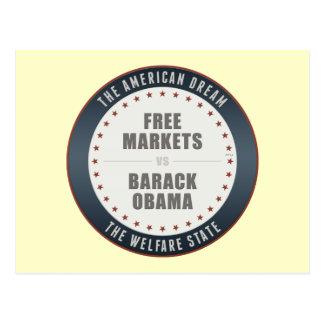 Free Markets Versus Obama Postcard