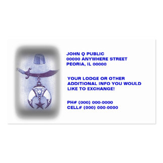 FREE MASON BUSINESS CARDS ~ INFO EXCHANGE CARDS