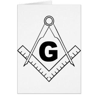 Free Masonry Symbol Card