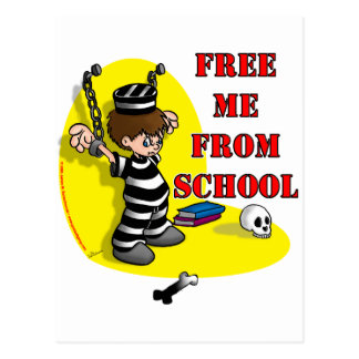 Free me from School Post Card
