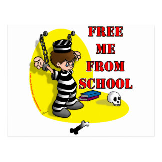 Free me from School Post Cards