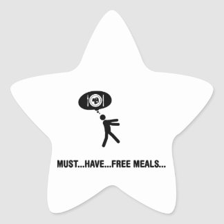 Free meals lover stickers