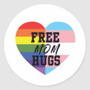 Free Mom Hugs LGBTQ Stickers