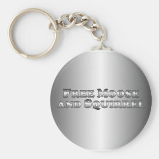 Free Moose and Squirrel - basic Keychain