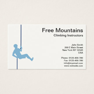 Free Mountains Climbing Instructor on Robe Business Card