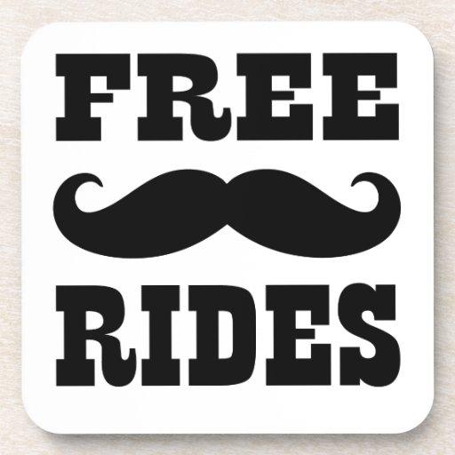 free moustache rides beverage coasters