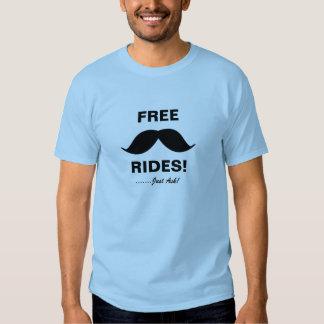 FREE Moustache rides T-Shirt! T-Shirt
