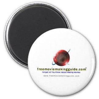 free movie making guide.com Logo 2 Inch Round Magnet