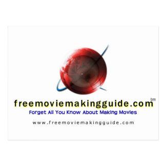 free movie making guide.com Logo Postcard