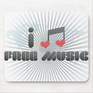 Free Music fan Mouse Pad