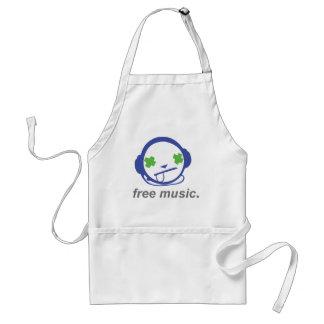 free music, free jammie adult apron