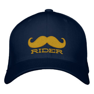 FREE MUSTACHE RIDES EMBROIDERED BASEBALL HAT