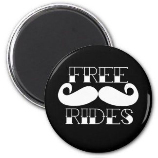 Free Mustache Rides Magnets