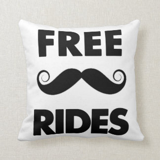 Free Mustache Rides Pillows
