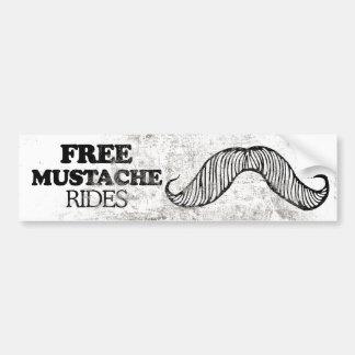 FREE MUSTACHE RIDES -.png Car Bumper Sticker