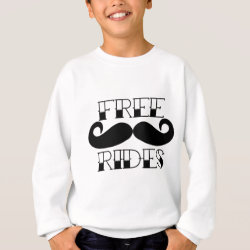 Kids' American Apparel Organic T-Shirt with Free Mustache Rides design