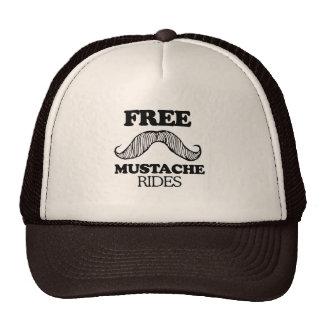 FREE MUSTACHE RIDES T-shirt Mesh Hat