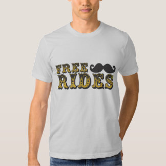 Free Mustache Rides Tee