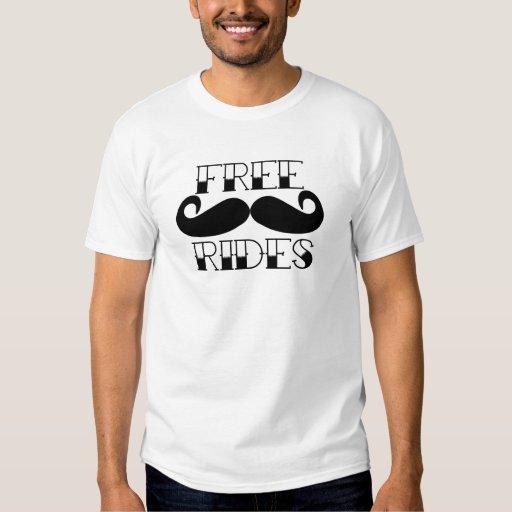 Free Mustache Rides Tshirts