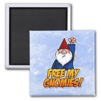 free my gnomies 2 inch square magnet