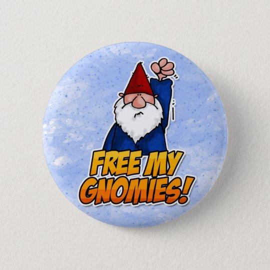 free my gnomies pinback button