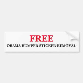 Free Obama Bumper Sticker Removal