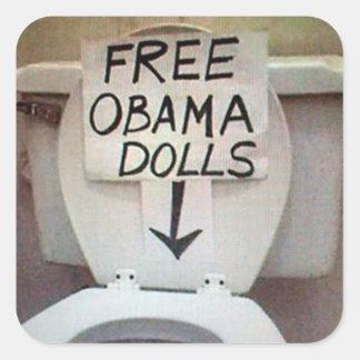 FREE OBAMA DOLLS SQUARE STICKER