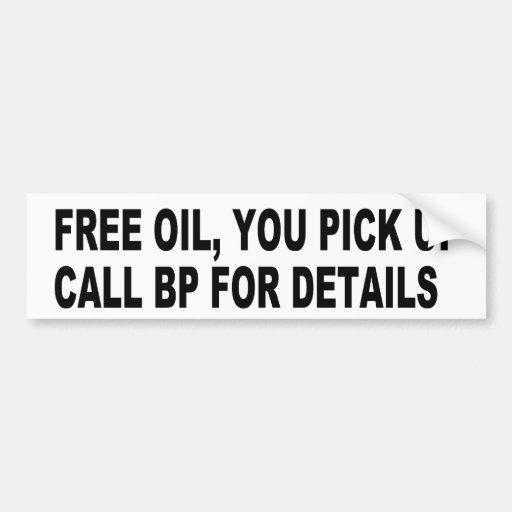 Free Oil Car Bumper Sticker