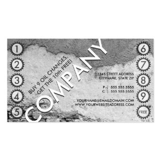 free oil change punchcard Double-Sided standard business cards (Pack of 100)