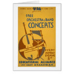 Free Orchestra Concerts 1938 WPA Card
