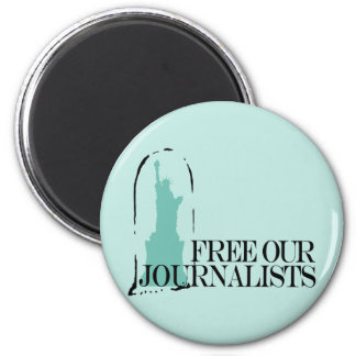 Free our journalists 2 inch round magnet