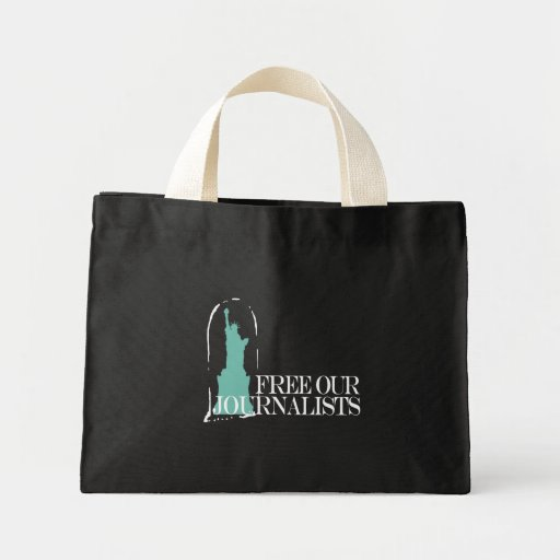 Free our journalists mini tote bag