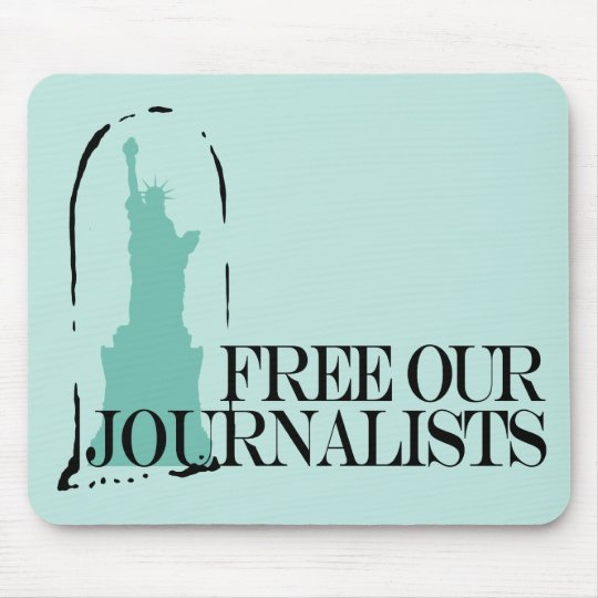 Free our journalists mouse pad