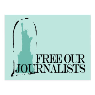 Free our journalists postcard