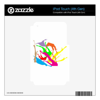 free paint abstract designs iPod touch 4G decal
