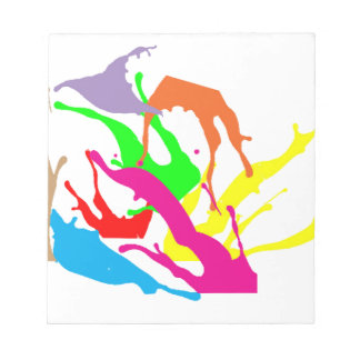 free paint abstract designs notepad