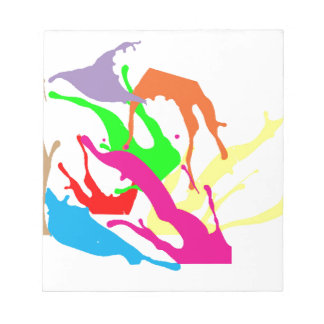 free paint abstract notepad