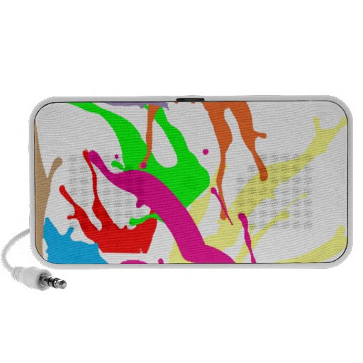 free paint abstract speaker system